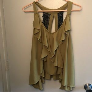 Army Green Flowy Tank